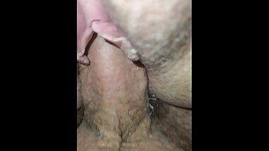 Hubby pumps his load into me