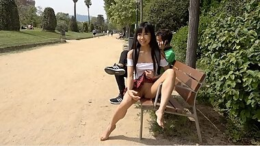 Public Squirts While Sitting Next to Stranger!
