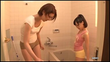 Asian Schoolgirl Turns StepMom into Her Lesbian Slut - Part 2