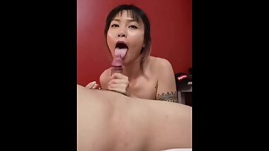 Asian Chinese Girl Giving a Nice Blow Job to random Sex Friend (Xiaoyu / SpicyXchan) CIM / SWALLOW)