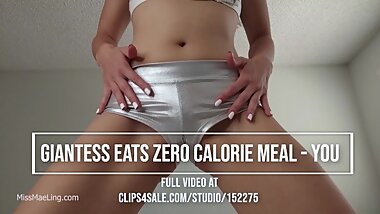 Giantess Eats Zero Calorie Meal - you